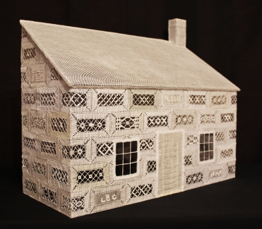 3-Dimensional Cottage for lace artwork.