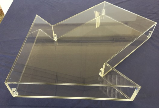 Arrow Shaped Display Case