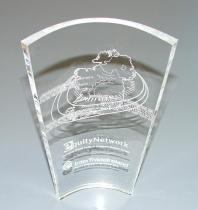 Curved Perspex award
