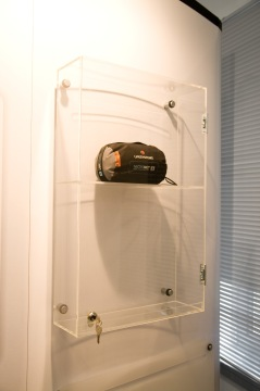 Lockable Wall Mounted Display Cabinet