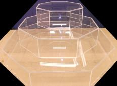 Octagon Shaped Display Cases