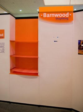 Orange Perspex Shelving