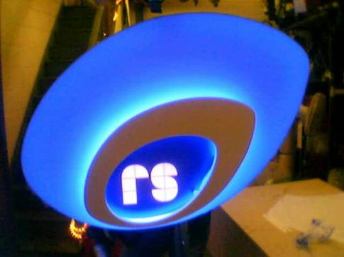 Rugby shaped lightbox