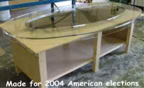 Table top for 2004 American elections
