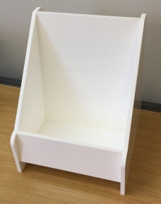 10mm White Literature Holder