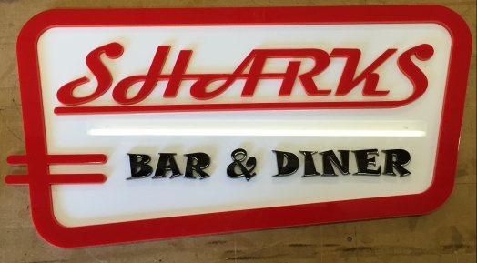 Bar sign for a clients 'Garden American Diner'