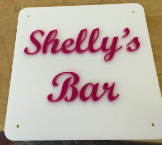Bar sign for clients 'Balcony Bar'