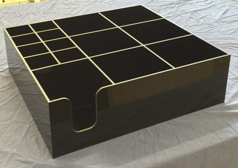 Black Multi Section tray for Napkins - Cutlery - Sauces